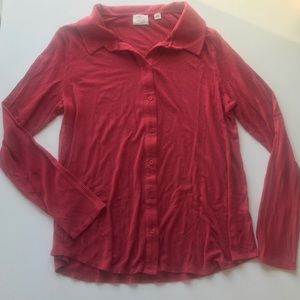 ANTHROPOLOGIE Postmark Westwood Button Down Large